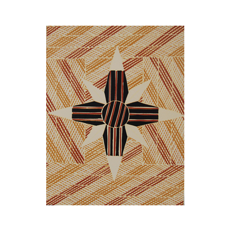 Banumbirr, wood cut reduction print, part of the Yalangbarra Suite by Bunduk Marika, 2006