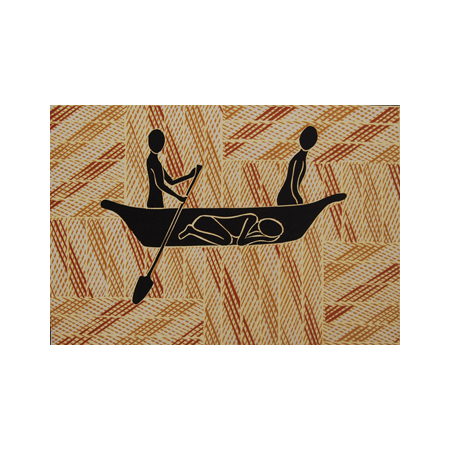 Guwulurru, wood cut reduction print, part of the Yalangbarra Suite by Bunduk Marika, 2006