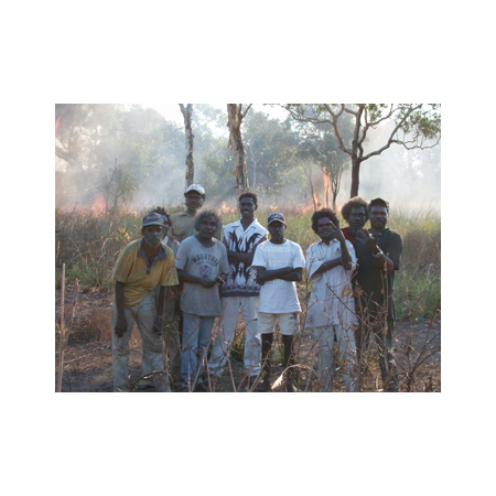 Injalak artists at the base of Injalak Hill in Arnhem Land during the workshop