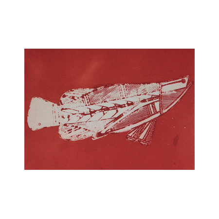 Barramundi by Isaiah Nagurrgurrba, part of the Injalak Hill Suite of 10 etchings