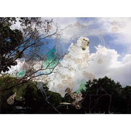 Siying Zhou, Look for Clove Oil, Cotton stitches on photographic paper, digital print, 2011, 290x390mm