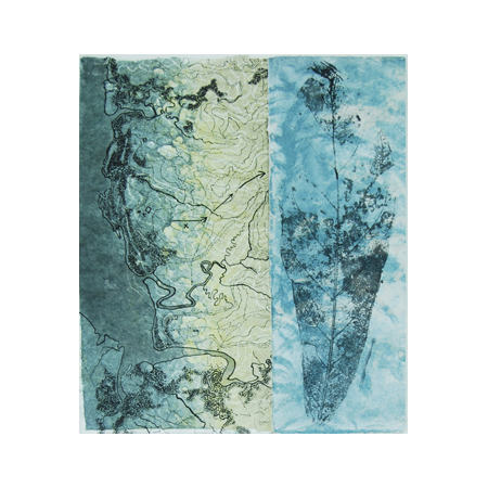 Breathe 8, dry-point on watermarked handmade abaca and cotton papers , 60 x 55 cm, 2012.