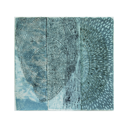 Breathe 2, dry-point and stenciled pulp on watermarked handmade abaca and cotton papers, 60 x 63 cm.