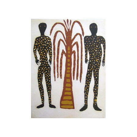 Image: David Djarrka, Mokuy (Spirit men) © 2010, etching