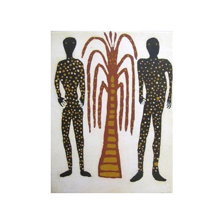 Image: David Djarrka, Mokuy (Spirit men) © 2010, etching