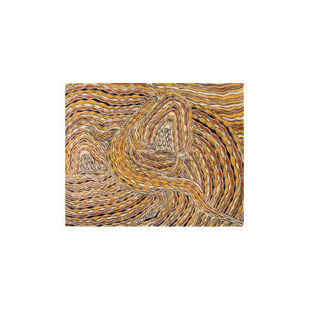Djambawa Marawili Garrangali etching and screen print © 2010