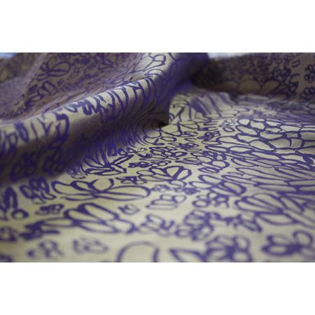 Elizabeth Gandabuma, Mud Ripples, acrylic pigment on silk, screen printed by hand