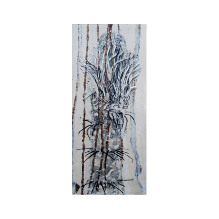 Winsome Jobling Cycad, etching on hand made paper, © 2010.