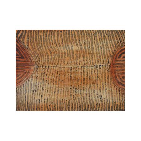 Judy Napangardi Watson (Yuendumu) woodblock printed intaglio from two blocks