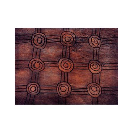 Ernest Bennett (Warakurna) woodblock printed intaglio from two blocks