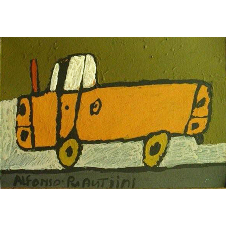 Ute by Alfonso Puautjimi, ochre on paper, 2011
