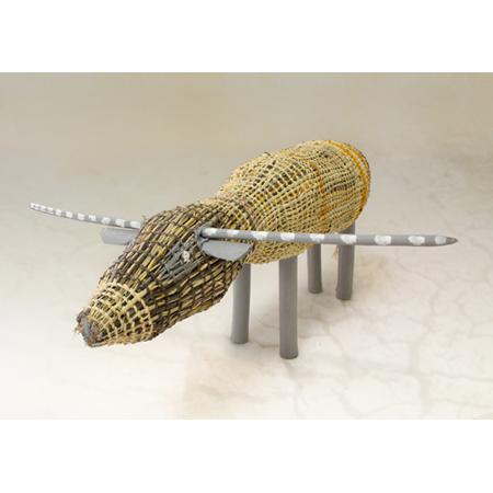 Penny Milingu Wanapuyngu, Buffalo, pandanus fibre and wood, Gapuwiyak Culture and Arts  2012