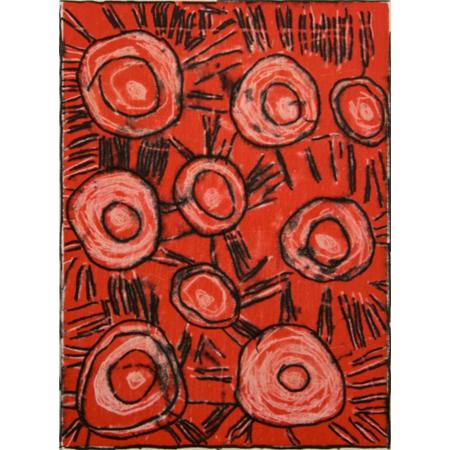 Jilamara 020 by Estelle Munkanome, monotype print, 2011