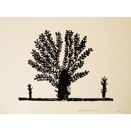 Bloodwood Tree, silkscreen by Marjorie Keighran