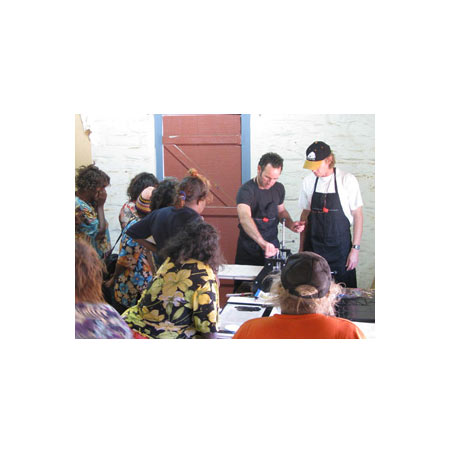 Artists and facilitators at the APW workshop