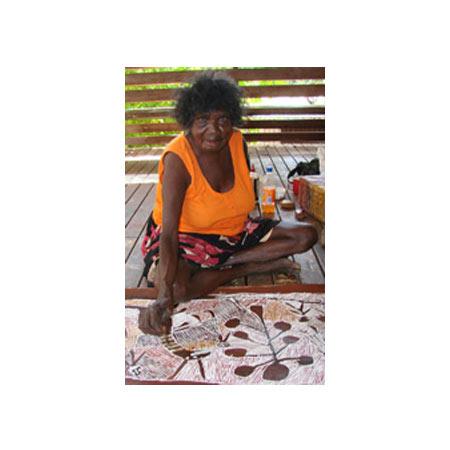 Image: Nyapanyapa working at Buku-Larrnggay Mulka ©2008