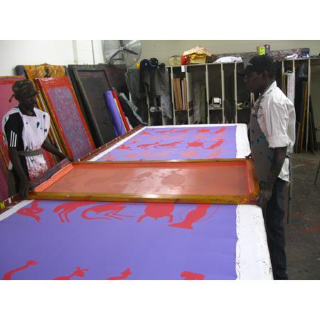 In the print studio at Injalak Arts