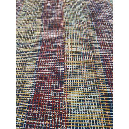 Coolomon (paper bark) Design, screen print on linen by Kieren Karritypul