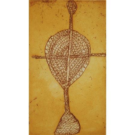 Yawk Yawk, etching by Lyn Narlbidgrrka, 32 x 27 cm