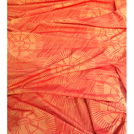 Pandanus Mat, screen print on hand woven cotton by Deborah Wurrkidj