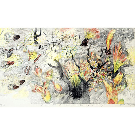 After the Fire – Leaf Surge, five plate lithograph, 2003-4