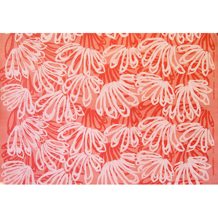 Big Leaf design by Marita Sambono, silkscreen on silk, 2013