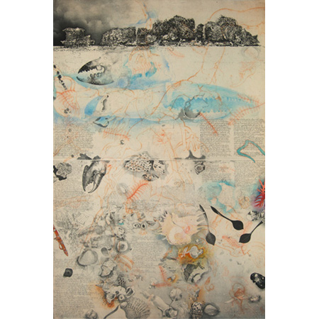 Blue Mud Bay Diary and Yilpara Shore, etching and