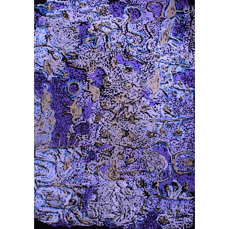 Minnyurru Tjukurpa, screen print by Kathleen Injiki Tjapalyi, 84 x 59 cm