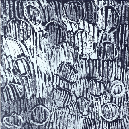 Birrka'mirri, etching by Napanyapa Yunupingu