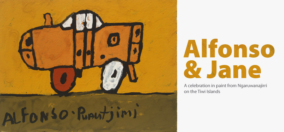 Alfonso Puautjimi, Car, ochre on paper, 2012