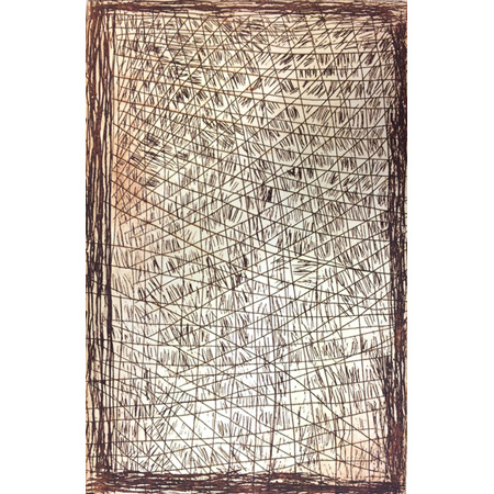 Bush paper bark, etching by Kate Miwulku (Dec)