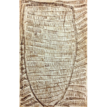 Dilly bag, etching by Kate Miwulku (Dec)