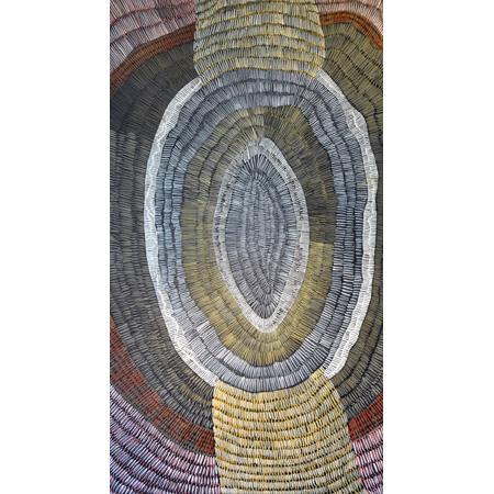 Fish Net, acrylic on linen, 130 x 70 cm, 2014 - $2700