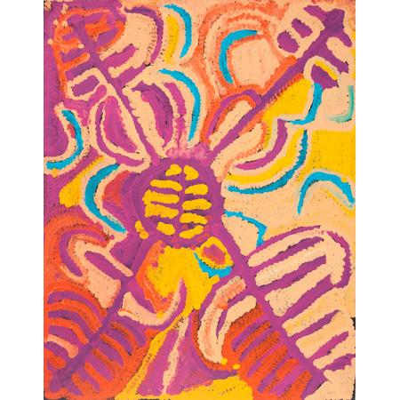 Wopiti Yapa (Yam), acrylic on canvas, 130 x 100 cm, 2006