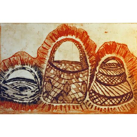 Wirrgay (triple), etching by Andrew Garrett Jr