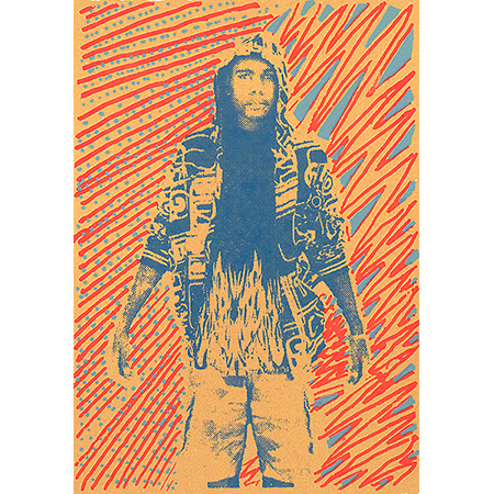 Ngarra (Me), screen print by Mikey Gurruwiwi