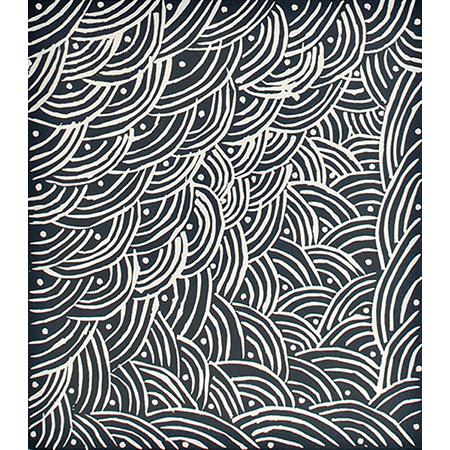 Gapu, lino cut by Bawu Gurruwiwi