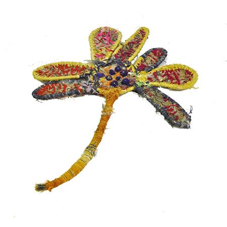 'Flower' flat weaving by Manupa Butler,