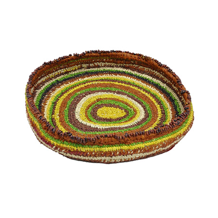 Ininti seed and raffia basket by Nellie Coulthard