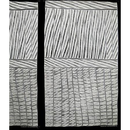 Philip Gudthaykudthay, Gunyunmirringa, screenprint on fabric