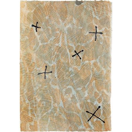 Crossing, handmade paper, 60 x 42cm