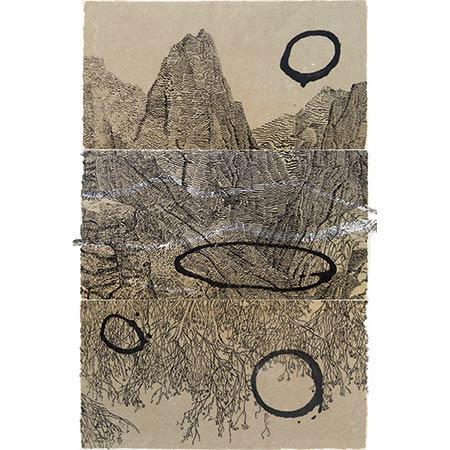 Rift, handmade paper, 84 x 54cm