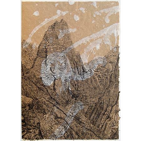 Cataclysm, handmade paper, 60 x 42cm