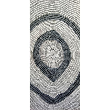 Yerr kerre walipan, acrylic on linen, 206 x 93 cm, 2015 - $3800