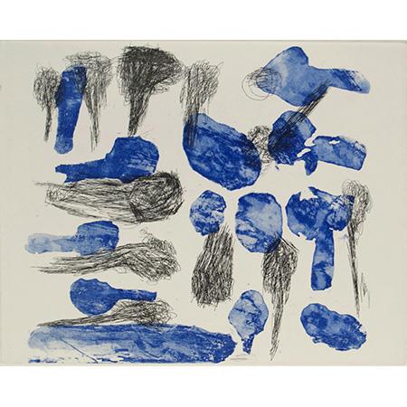 Kurtal, etching by Dolly Jukuja Snell, 19.5 x 24.5 cm