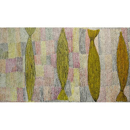 Merrepen, acrylic on linen, 75 x 135 cm, 2015 - SOLD