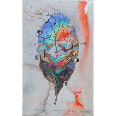 Palau Serangan, watercolour and graphite, 23 x 13.5cm