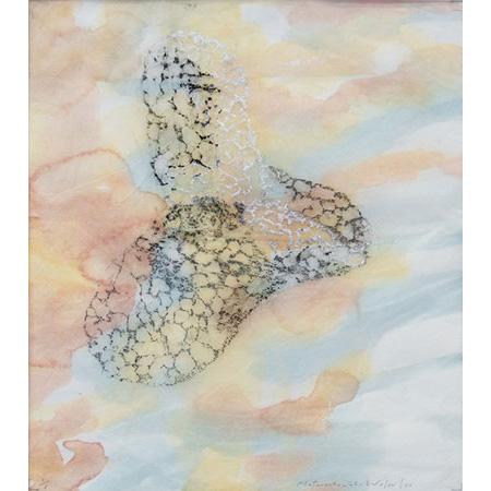 Termite Mind, relief print from termite nest, 38 x 32.5 cm