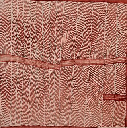 Riyala, etching by Mulkun Wirrpanda, 2015