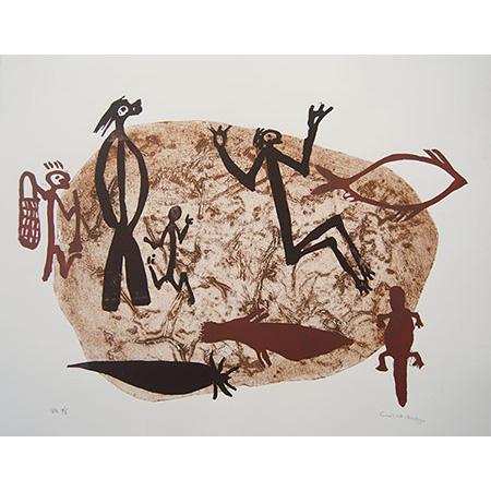 Rock Art, collograph by Cuisak Nango